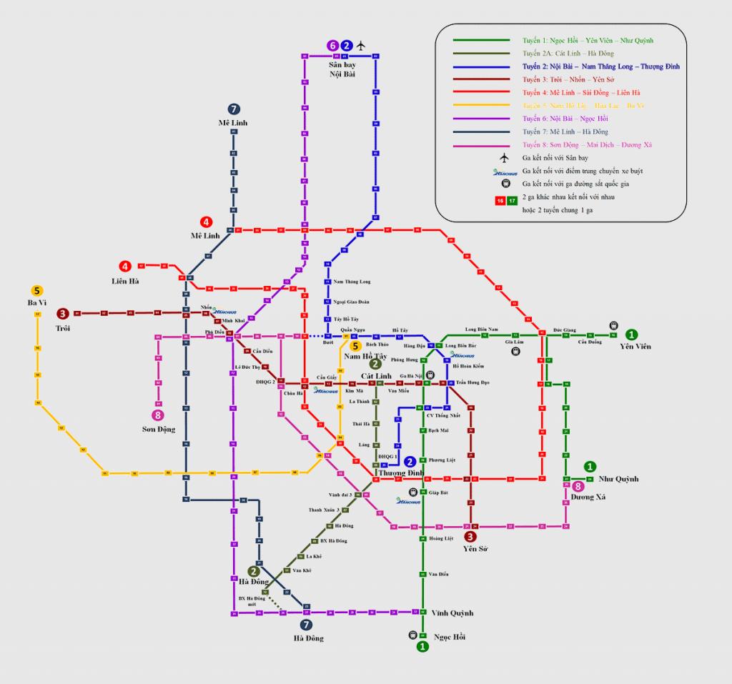 Hanoi Metro Maps 2