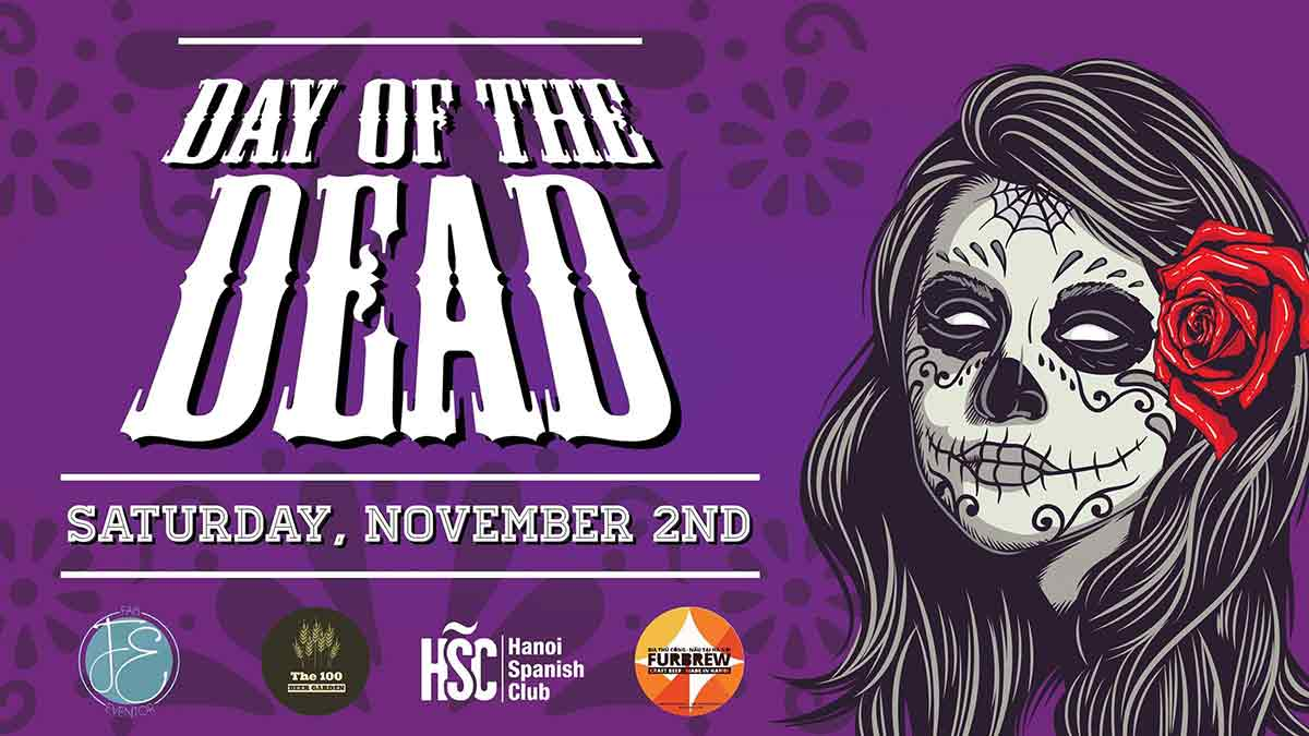 Day Of The Dead Beer Party Chao Hanoi 1102