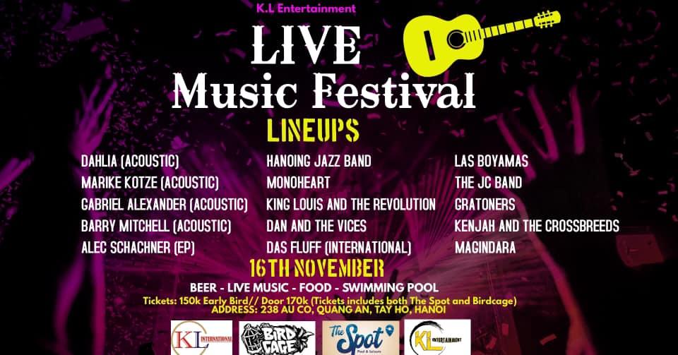 Live Music Festival KL Hanoi 1116