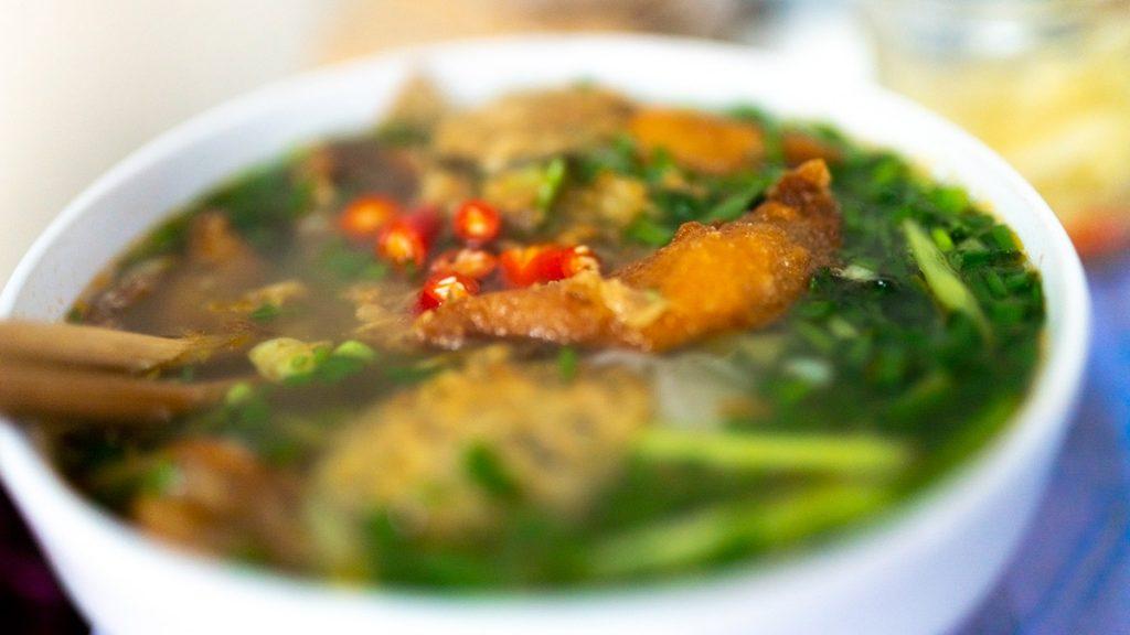 Chao Hanoi Bun Banh Da Ca