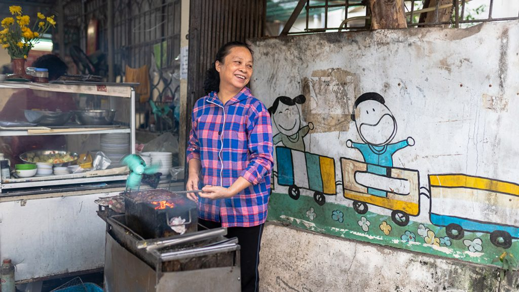 Cooking Bun Cha Hanoi