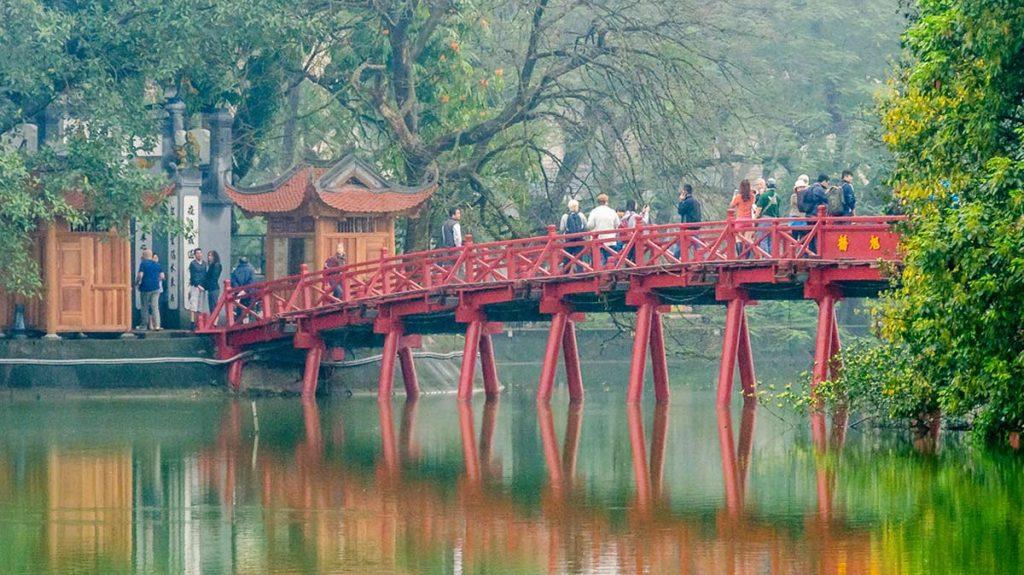 Ngoc Son Temple Bridge