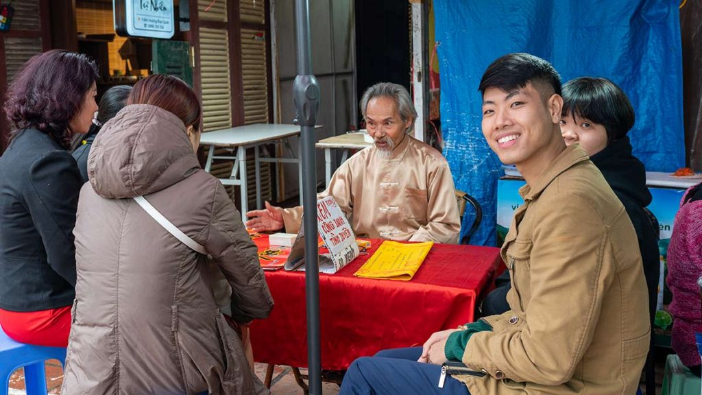 Fortune Teller Hanoi During Tet