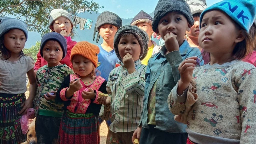 H'mong Children In The Northern Mountains Of Vietnam