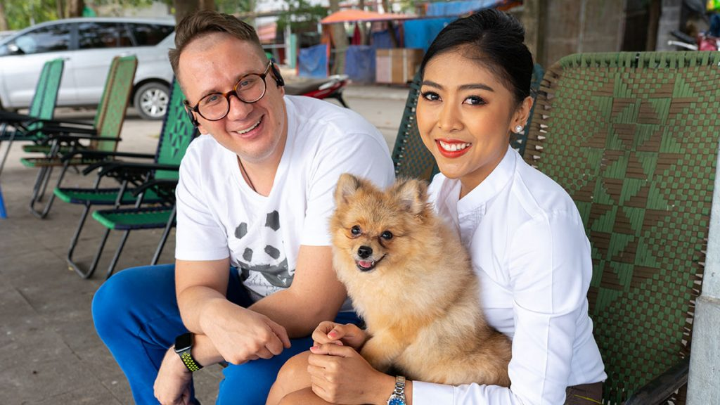 Hanoi Dog Rocky With Alex And Chacha