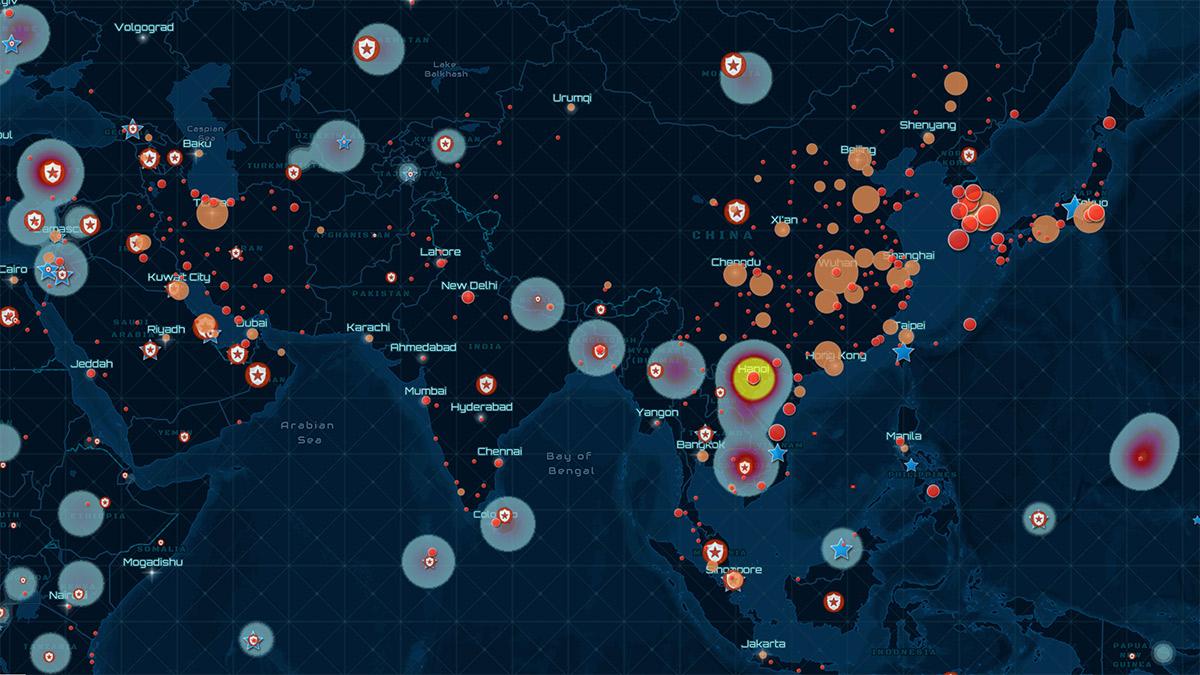 Corona Interactive Map