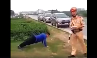 Hanoi Drivers Pushups Traffic Video