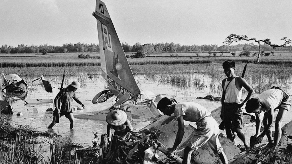 Aj Plane Hanoi Wreckage 1972