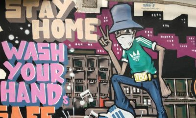 Stay Home Hanoi Graffiti Rez