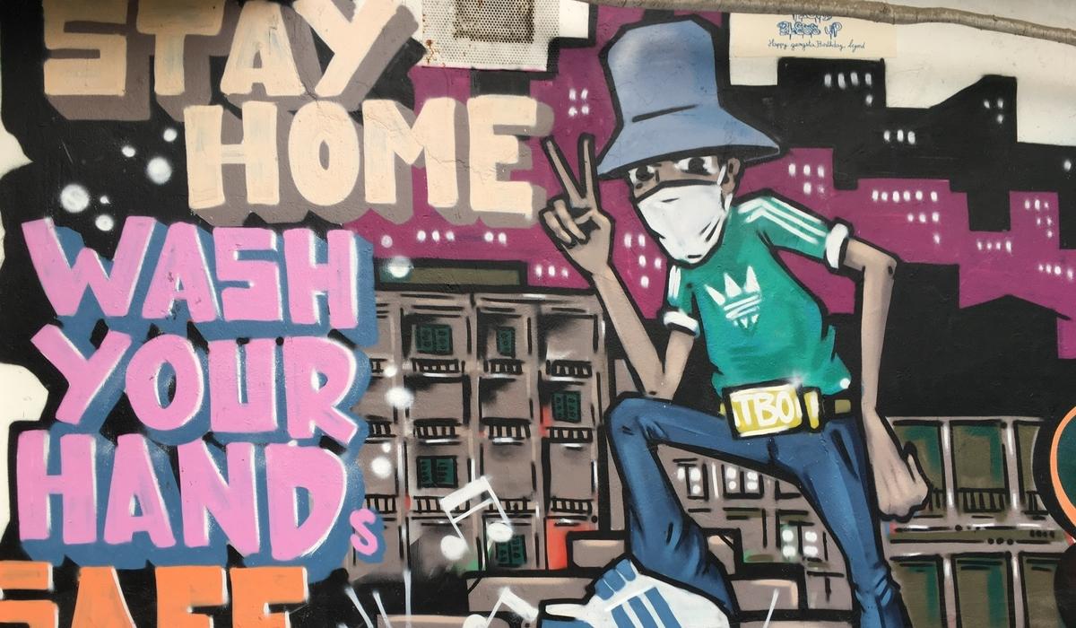 Stay Home Hanoi Graffiti Rez